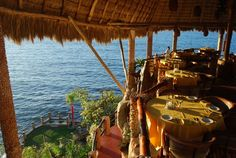Le Kliff - Puerto Vallarta, Mexico.  Restaurant sits on top of a cliff looking out onto the ocean.  Most beautiful sunset!