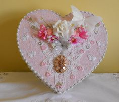 Shabby Chic Memory / Trinket box. by PearlsPrettyThings on Etsy, £10.00