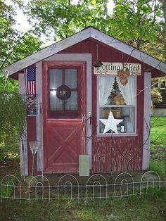 Cute little garden shed!