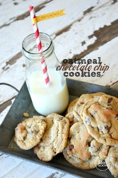 Oatmeal Chocolate Chip Cookies... Love a classic!