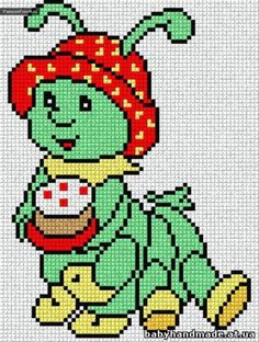 Gallery.ru / Фото #37 - bagia - ergoxeiro Easy Cross Stitch Patterns, Cross Stitch For Kids, Cross Stitch Cards, Simple Cross Stitch, Cross Stitch Baby, Cross Stitch Designs, Cross Stitching, Cross Stitch Embroidery, Modele Pixel Art