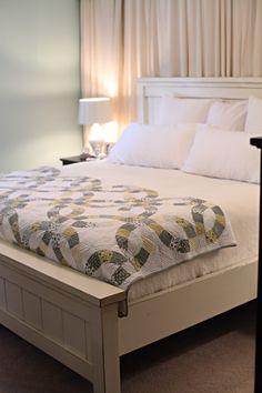 farmhouse bed like the one @Bower Power built.. free plans via anawhite.com