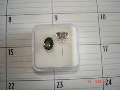Mystic topaz earrings in sterling silver on Etsy, $34.00