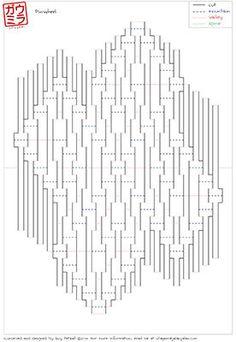 diy template vexilloid zigzag kirigami pop up paper sculpture