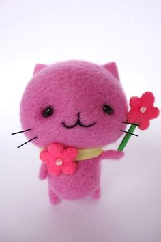 mitchiri-neko.com Wool felt cat craft