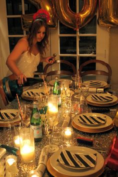 The most perfect NYE dinner party via Mint Love Social Club