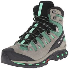 Rule your hiking trail with a pair of Salomon Women's Quest 4D 2 GTX Hiking Boot.   The updated quest 4D 2 gtx® retains outstanding stability and grip, with a more ergonomic tongue for improved comfort, laces that stay tied better, and fresh design details. Women's specific fit.