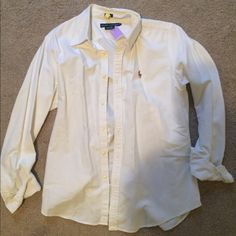 Shirt Button up oxford POLO shirt. Worn once! Polo by Ralph Lauren Tops Button Down Shirts