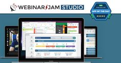 Webinar Jam Studio - If you run any type of online business, WebinarJam Studio is a vital tool for you. It allows you to reach an unlimited number of people, create better conversions, and ultimately sell more of your product or service via webinars. #AppoftheDay