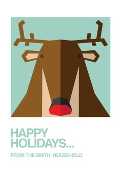 PERSONALISED CHRISTMAS CARDS by Paul Wick, via Behance