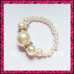 Free Shipping Lowest price 100pcs / lot white Pearls Napkin Rings Wedding wholesale US $85.50