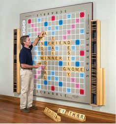How to make your own Scrabble wall w/ magnetic paint