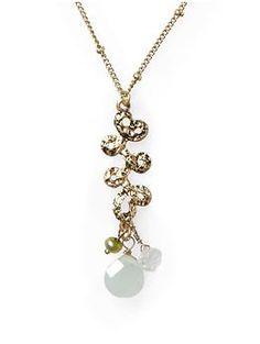 Bead Drop Pendant Necklace via Piperlime.com