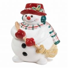 No wonder that this snowman looks so round - with a bellyful of Christmas cookies