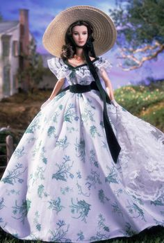 Scarlett O'Hara (Twelve Oaks bbq) Barbie - GWTW                                                                                                                                                     More