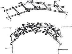 CNC Zimmerhandwerk: Das 'selfsupportingframework' CNC Carpentry: The & # selfsupportingframe Custom Woodworking, Woodworking Projects Plans, Teds Woodworking, Schmidt, Cnc, Trellis Fence, Bridge Design, Geodesic Dome, Natural Building