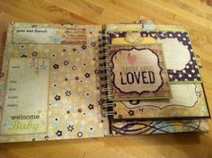 Craft With Ann: Mini Albums-Simple Stories paper with lots of layers.