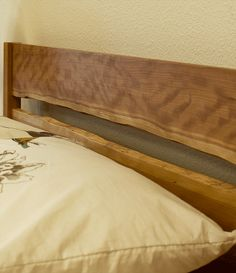 live edge headboard | Modern Simple Bed with Live Edge