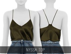 NYSSA TOP• 15 swatches; • HQ mod compatible; • Custom Shadow Map; • All LOD's; [ DOWNLOAD ON MY BLOG ] Want this CC Ad-free? Access to early releases and exclusive CC? Check out my Patreon page! ♥ If...