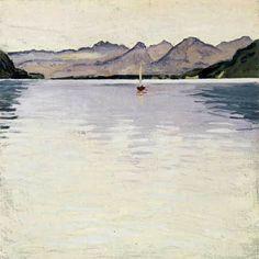 Koloman Moser - Wolfgangsee mit hohem Horizont