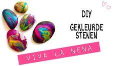 DIY: Gekleurde stenen #knutselen #video #simpel #kids #kinderen #makkelijk #keien #natuur #school