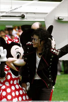 Michael Jackson and Minni Mouse