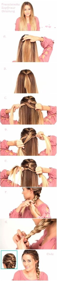 DIY Braid...I never thought to use a tie to keep the top in place!