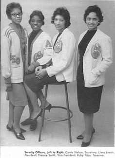 I WANT one of these sweaters--REALLY! classic NEVER goes out of style!  Alpha Chi Chapter - Tennessee State University - 1961