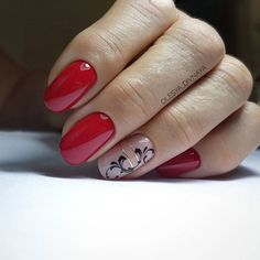 Nail Art Arabesque, Elegant Nail Art, Nail Envy, Nail Art Stickers, Short Nails, Red Nails, Wedding Nails, Beauty Nails, Summer Nails