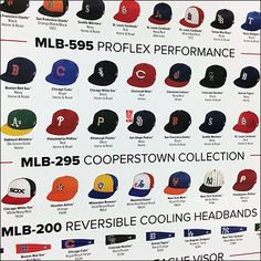 Branded Team Baseball Cap Comparison Chart – Fixtures Close Up Baseball Cap, Retail, Chart, Baseball Hat, Sleeve, Retail Merchandising