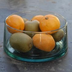 Recycled Glass Salad or Fruit Bowl by Skoura Kitchen Dining, Dining Room, Recycled Glass, Salad, Fruit, Food, Essen, Salads, Meals