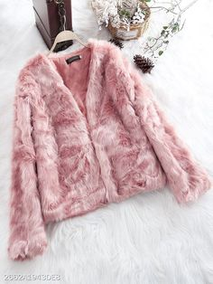 Collarless Plain Coat -  #fashion #beautiful #tops #style #women #Shoes #jumpsuit #Outfits #accessories Cheap Party Dresses, Designer Party Dresses, Fur Fashion, Fashion Blogs, Skirt Fashion, Hijab Fashion, Cheap Coats, Faux Fur Hooded Coat, Coats For Women