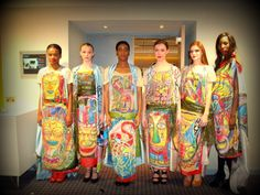 My beauties just one hour before our performance to the judges of FDC Young Designer Award & Radical Designer Award. My hand painted collection (its not the print). We have left with second place Radical Designer Award which entitles me to showcase in Vancouver Fashion Week Canada 2014.