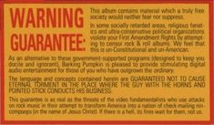 Warning Guarantee from Frank Zappa. Outgrow the ordinary. Political Organization, One Word Art, R Gifs, Frank Zappa, Music Labels, Digital Text, You Rock, R Memes, Constitution