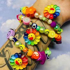 Pinterest Diy Crafts, Rainbow Flowers, Colorful Bracelets, Smiley, Beaded Bracelets, Charmed, Etsy Shop, Beads, Handmade