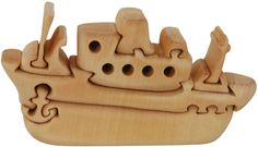 Tug Boat Wooden Puzzle - 3D Wood Jigsaw Puzzle