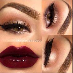 Makeup: How to create the perfect cat eye make-up look? Pretty Makeup, Love Makeup, Makeup Inspo, Makeup Inspiration, Fall Makeup, Holiday Makeup, Classy Makeup, Green Makeup, Stunning Makeup
