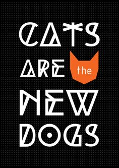 CATS ARE Art Print #decor #art #arte #typography #catlover #gatos