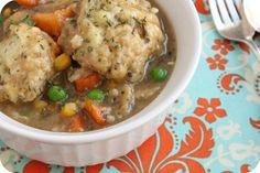 Veggie Dumpling Stew | I used to make similar version of this every couple of weeks when we lived in cold weather areas.  Might do it anyway out here in the warmth! ... stub whole wheat or GF flour for an even healthier choice meal.  ... from veganmotherhubbard.com