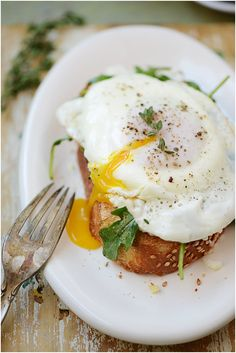 and arugula open faced poached egg sandwich more breakfast eggs egg ...