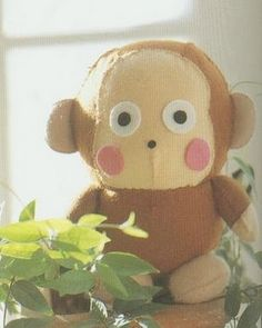 little monkey pattern, probably the cutest stuffy I've ever seen!