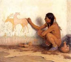 The earliest types of communication  are the cave paintings, a form of rock art. Cave drawings were murals that people painted onto the walls of caves and canyons to tell the story of their culture.  They would tell stories of battles, hunts and culture. Also, Drums were one way to send signals to neighboring tribes and groups.  The sound of the drumming patterns would tell them of concerns and events they needed to know. Smoke signals were another way to send messages to people as well.
