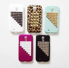 FREE Shipping US  Samsung Galaxy S4 Studded Phone by MargauxBonnie, $20.95 seems like it would be pretty simple to make yourself too