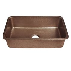 SINKOLOGY Orwell x Antique Copper Single Bowl Undermount Commercial/Residential Kitchen Sink at Lowe's. The Orwell undermount copper kitchen sink is a chefs dream. Featuring a large single bowl design, this copper sink makes kitchen clean-up and prep work