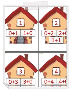 Les maisons des nombres Numbers Preschool, Learning Numbers, Math School, Math Class, Math Addition, Addition And Subtraction, Number Writing Practice, Kindergarten Classroom Setup, Maternelle Grande Section