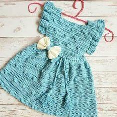 Crochet Baby Costumes, Crochet Baby Clothes, Newborn Crochet, Free Newborn Knitting Patterns, Easy Crochet Patterns, Baby Knitting, Baby Girl Dresses, Baby Dress, Crochet Girls