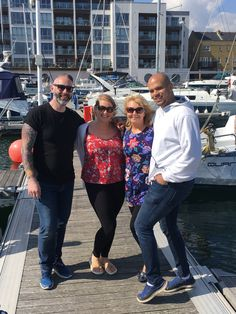 @brave_ladies Andrew Franklin and Mr C had a fab day in the sun for our 2017 launch #filming #film #showreel #promo #boat #Eastbourne