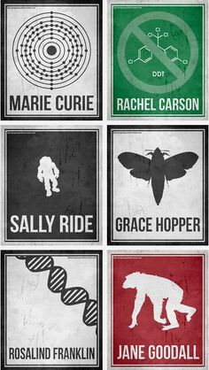 Minimalist Posters Celebrating Six Pioneering Women in Science | Brain Pickings