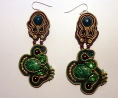 #soutache earrings    share .. repin .. like