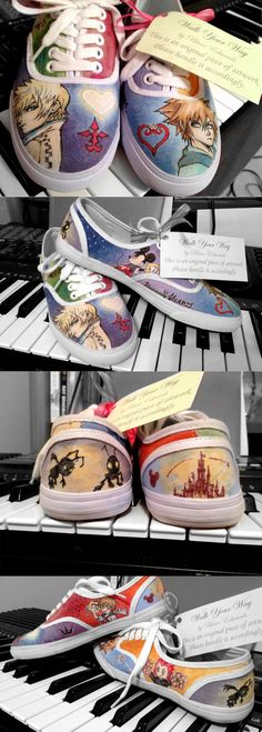 Kingdom Hearts Shoes by ~feavre on deviantART
